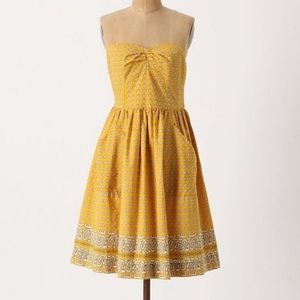 Anthropologie Girls from Savory Yellow Dress